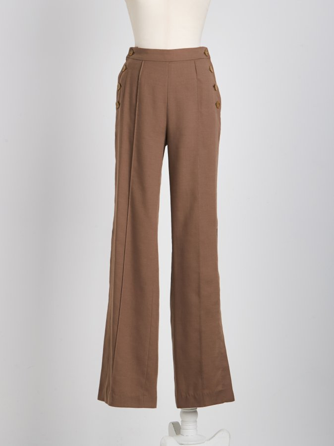 Side Slit High-Waist Pants