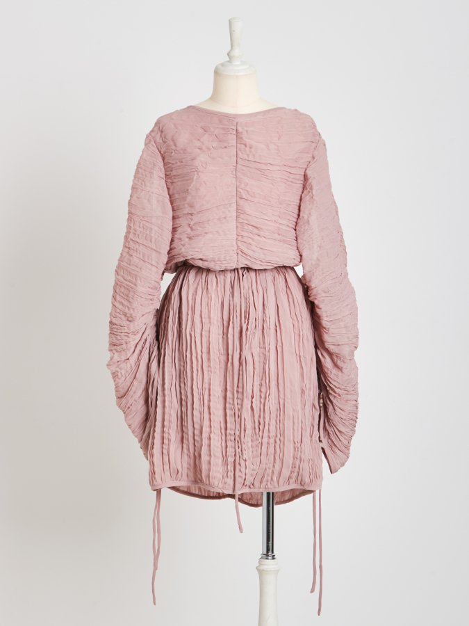 【Pre order】Pleated Balloon Dress