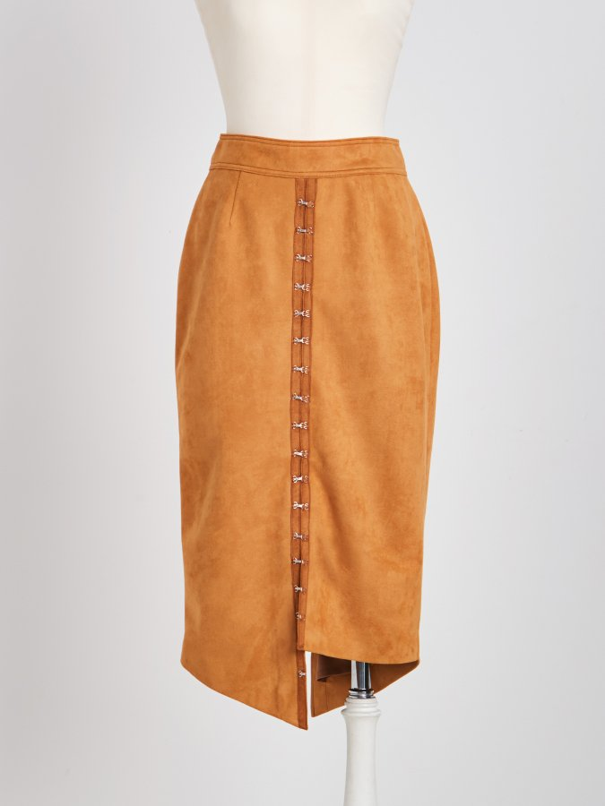 【Pre order】Fake-Suede Pencil Skirt