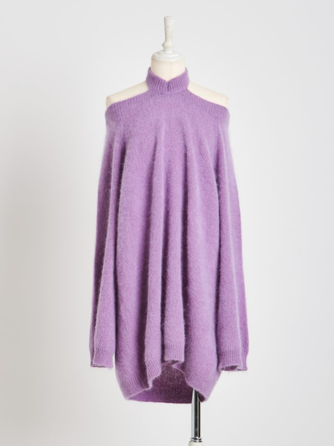 【Pre order】Off-Shoulder Raccoon Tunic