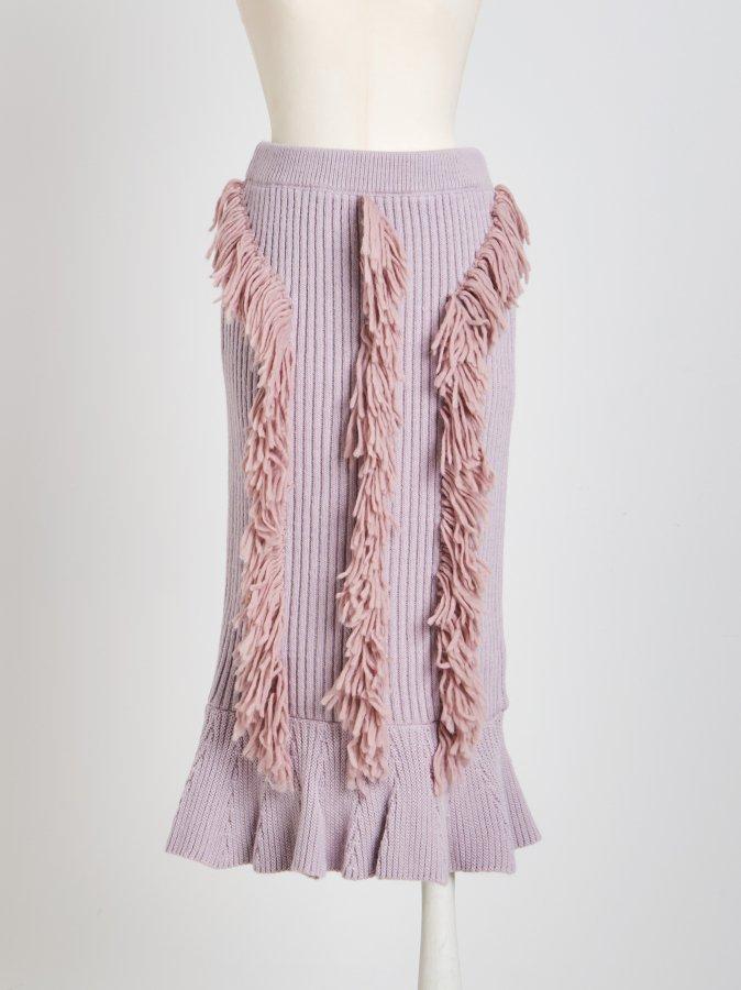 【Pre order】Fringe Knit Skirt