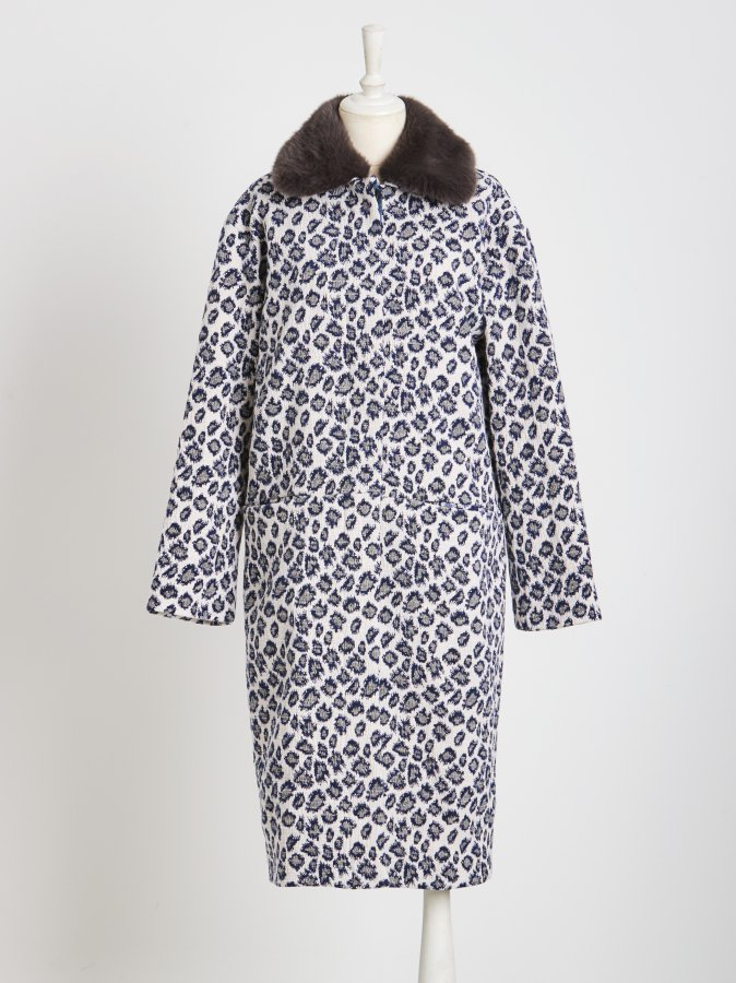 Leopard Jacquard Coat