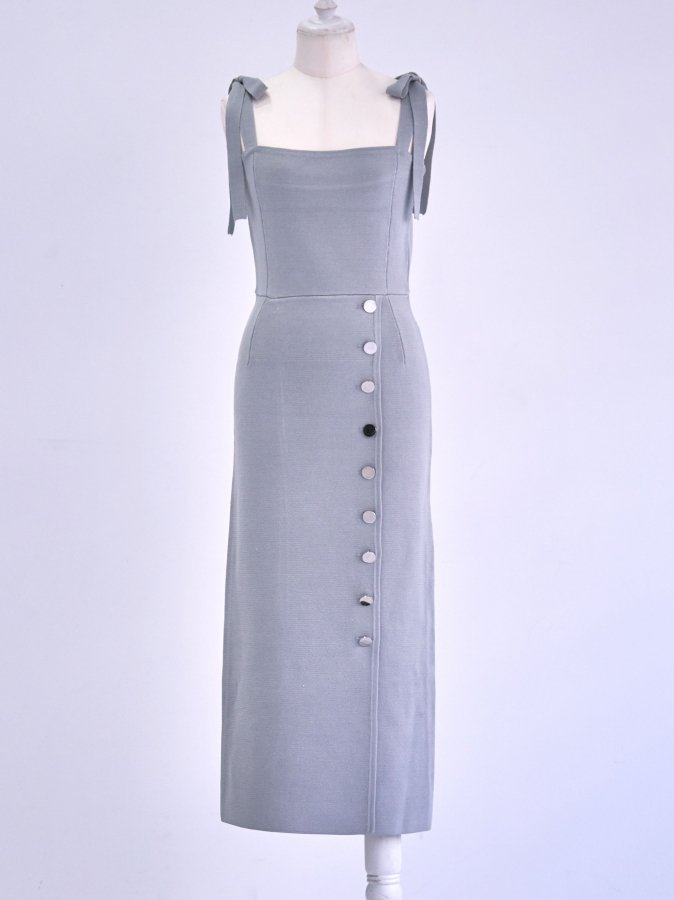 Milan-rib Bustier Dress
