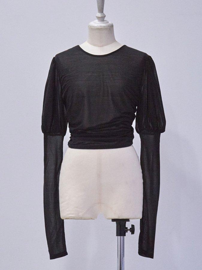 Puffed-sleaves Shear Top