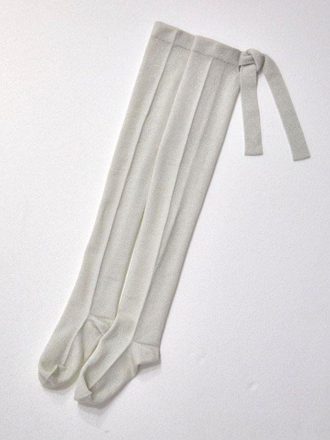 Back Ribbon Knee High Socks