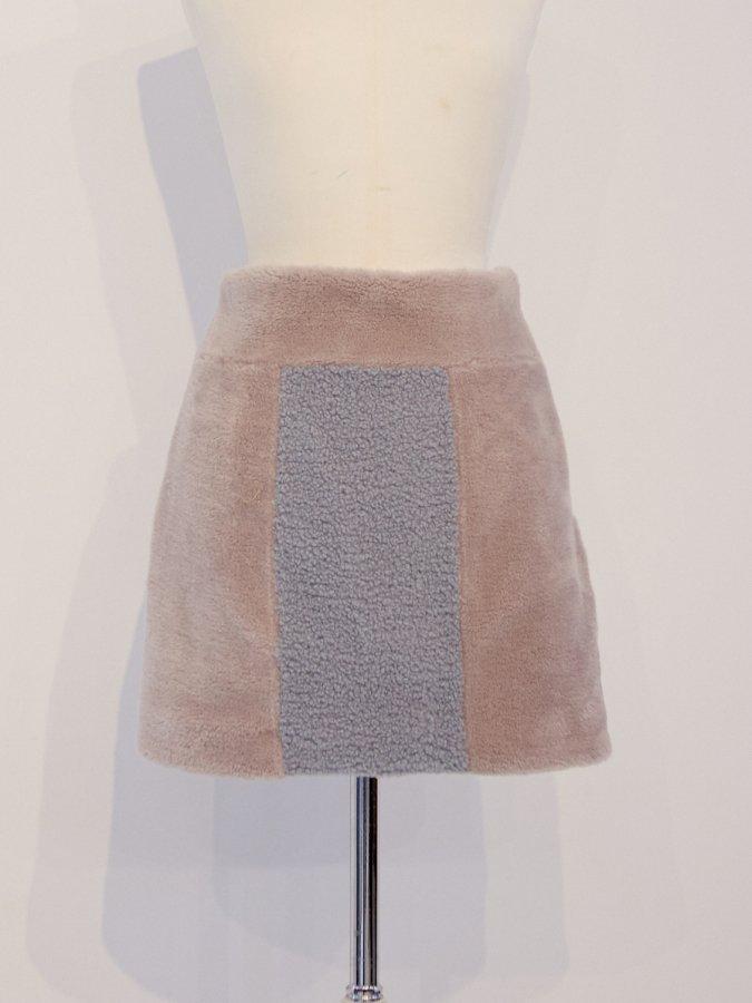 【Pre order】Block Fur Skirt