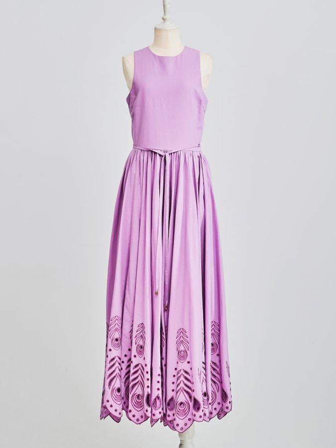 Peacock Cut-work Dress