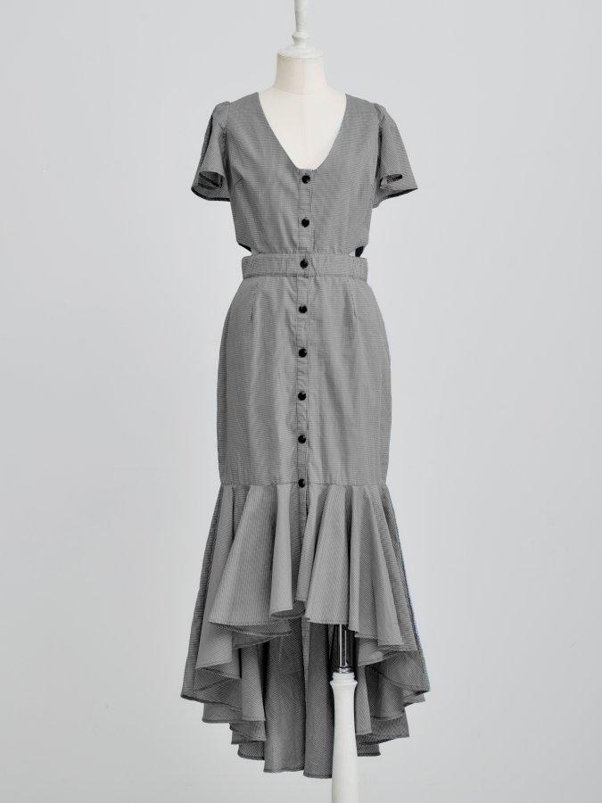 Gingham Swallow Dress