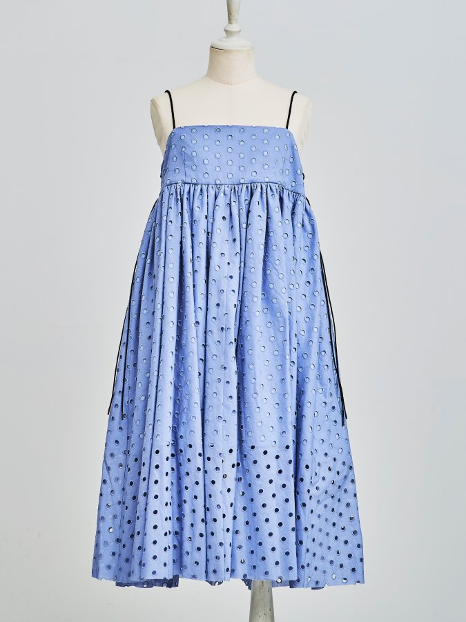 【Pre order】Dot Eyelet Code Dress