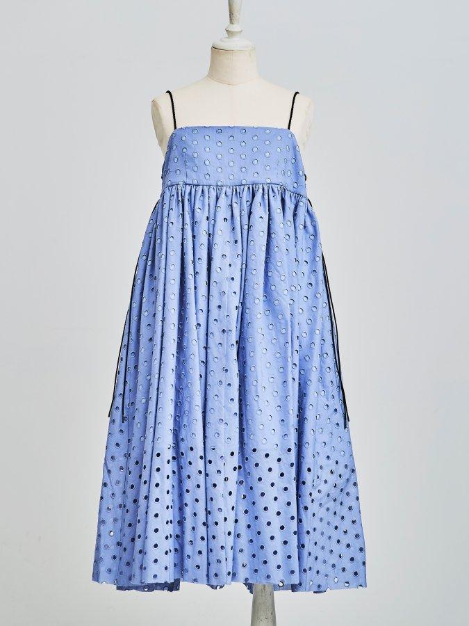 Dot Eyelet Code Dress