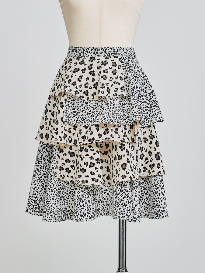 Leopard Asymmetry Skirt