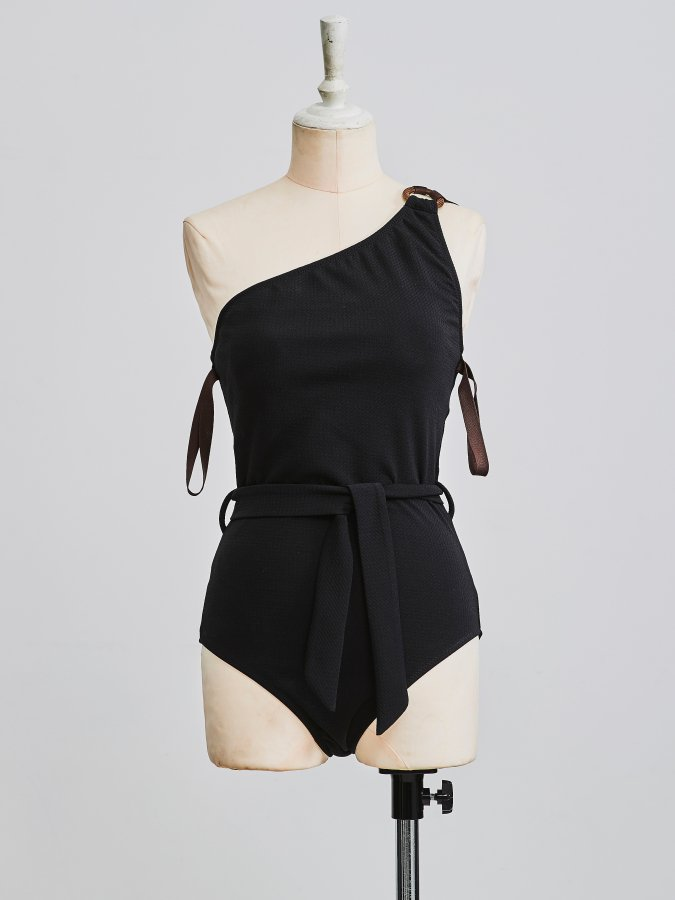 One-Shoulder Swim Suit