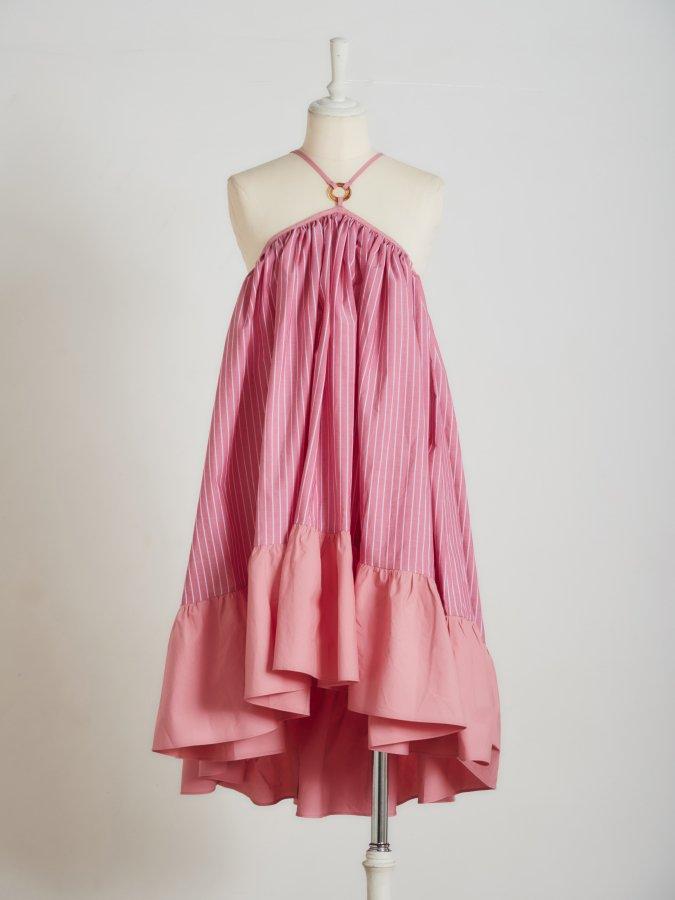 【Pre order】Strap Gather Dress