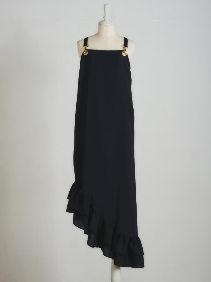 Asymmetry Frill Dress