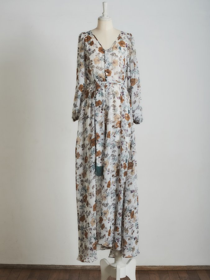 Flower Maxi Gown Dress