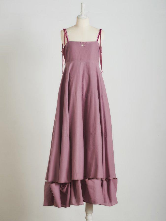【Pre order】Cut-off Cami Dress