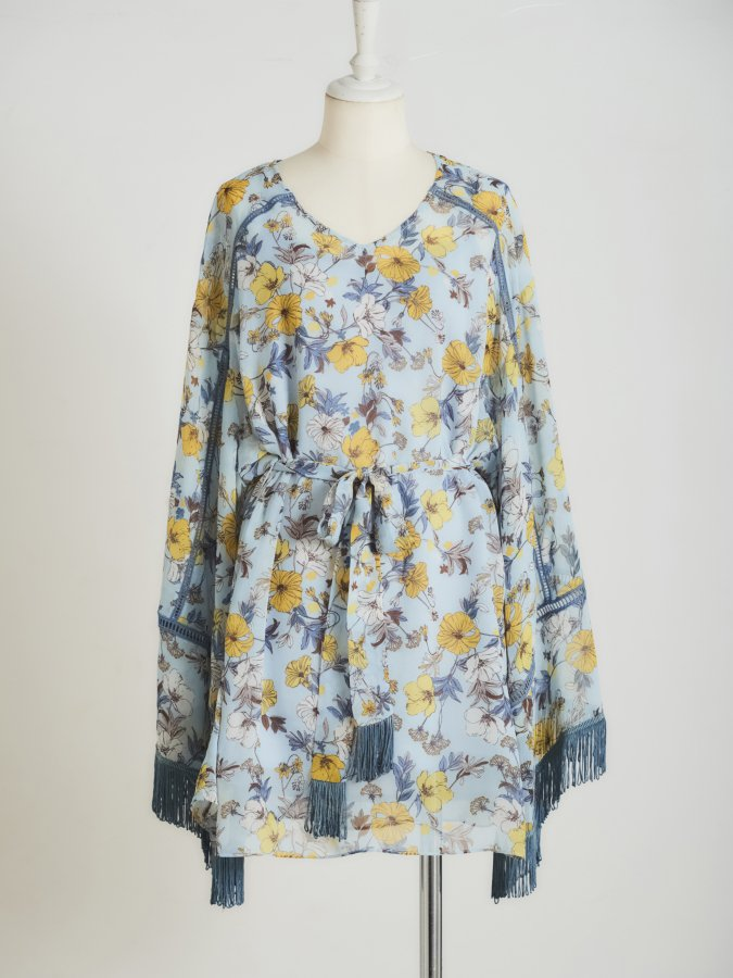 【Pre order】Flower Belted Tunic