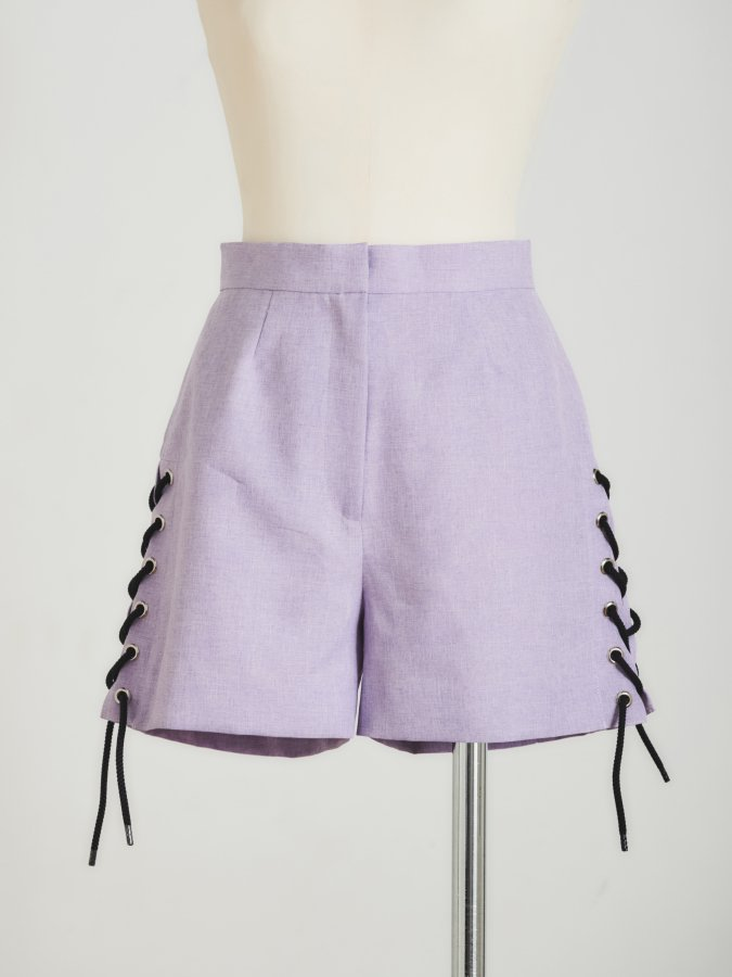 Side Lace-up Color Pants