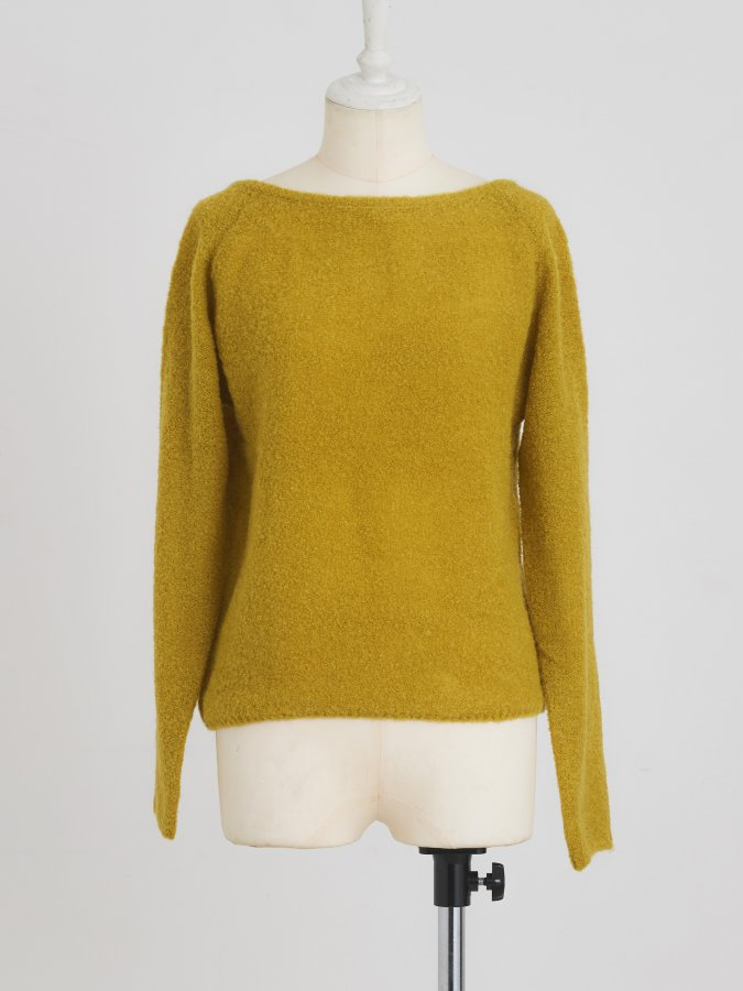 Loop-yarn Knit Top