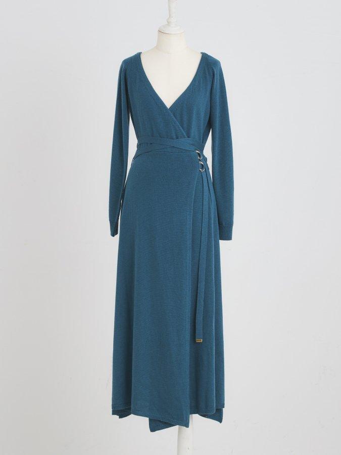 Belted Kashkur Knit Dress
