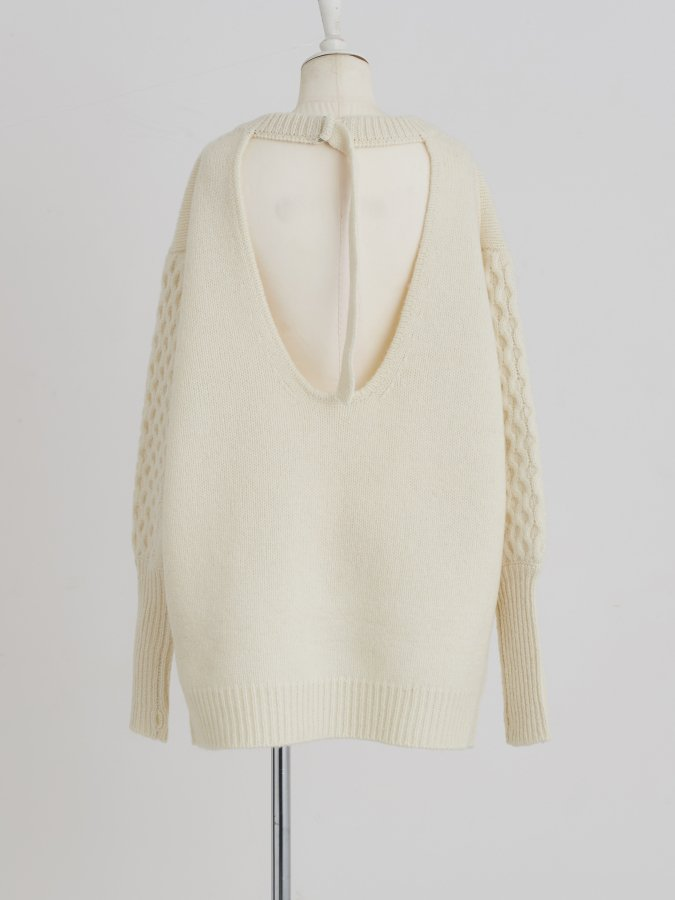 Back Open Cable Tunic