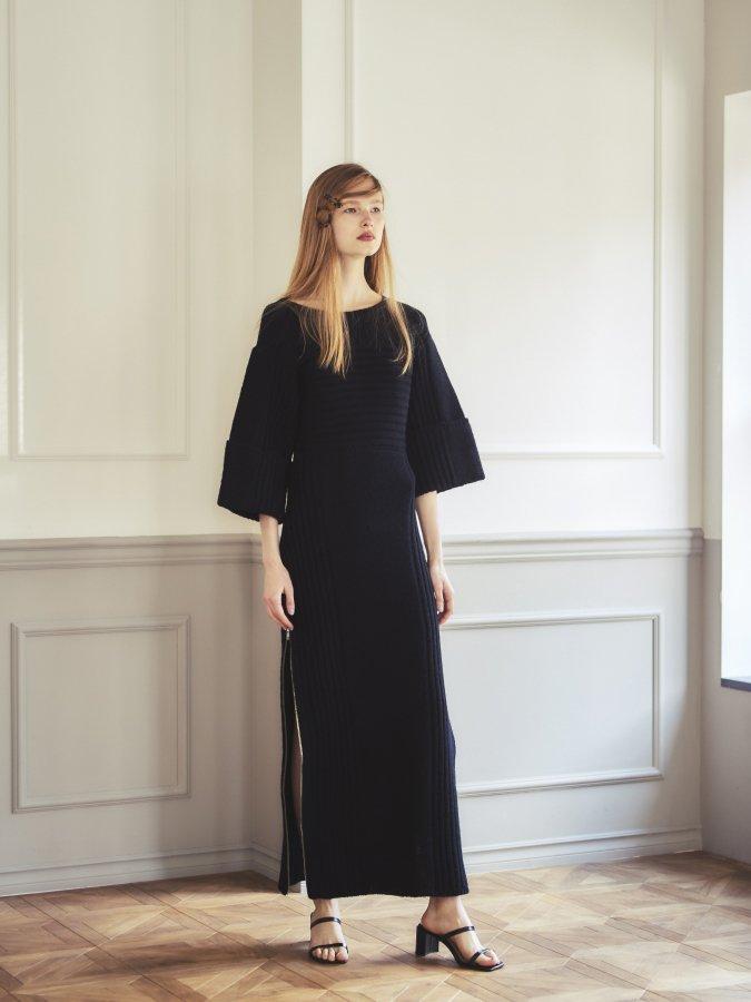 Side Zip Knit Dress