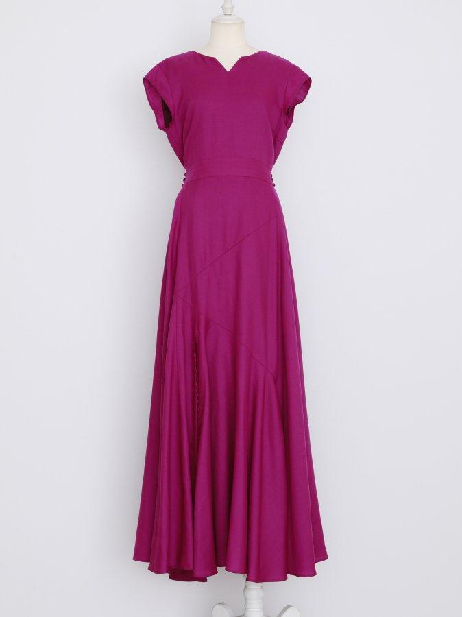 Side Slit Flare Dress