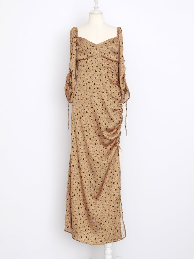Lip&Dot Shirring Dress