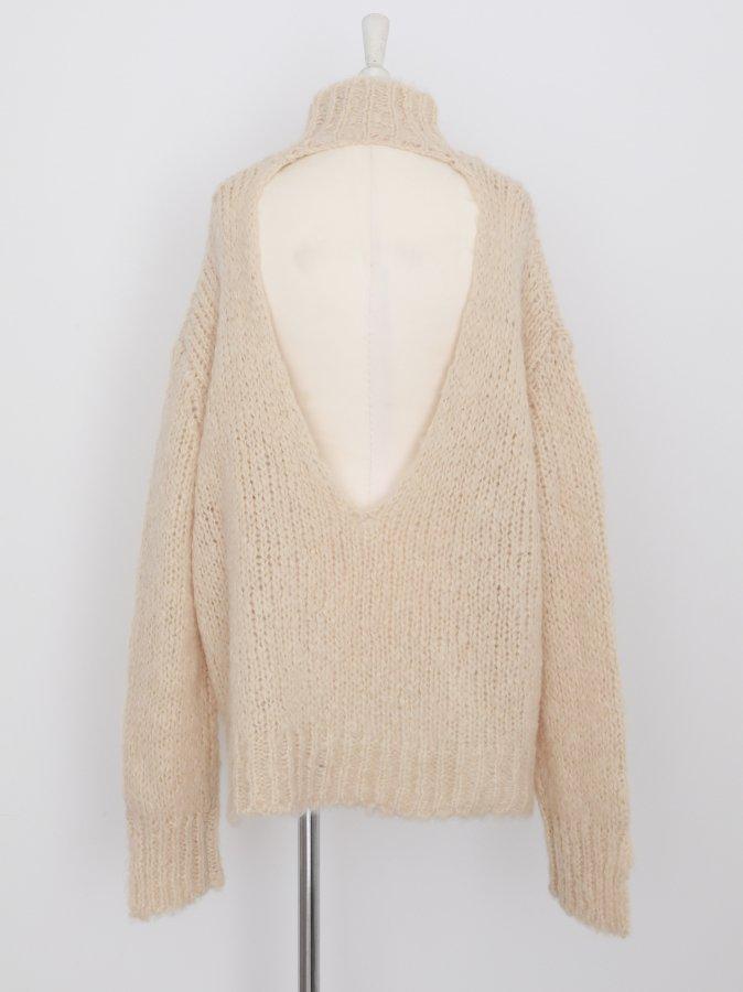 【Pre order】Fluffy Back Open Pullover