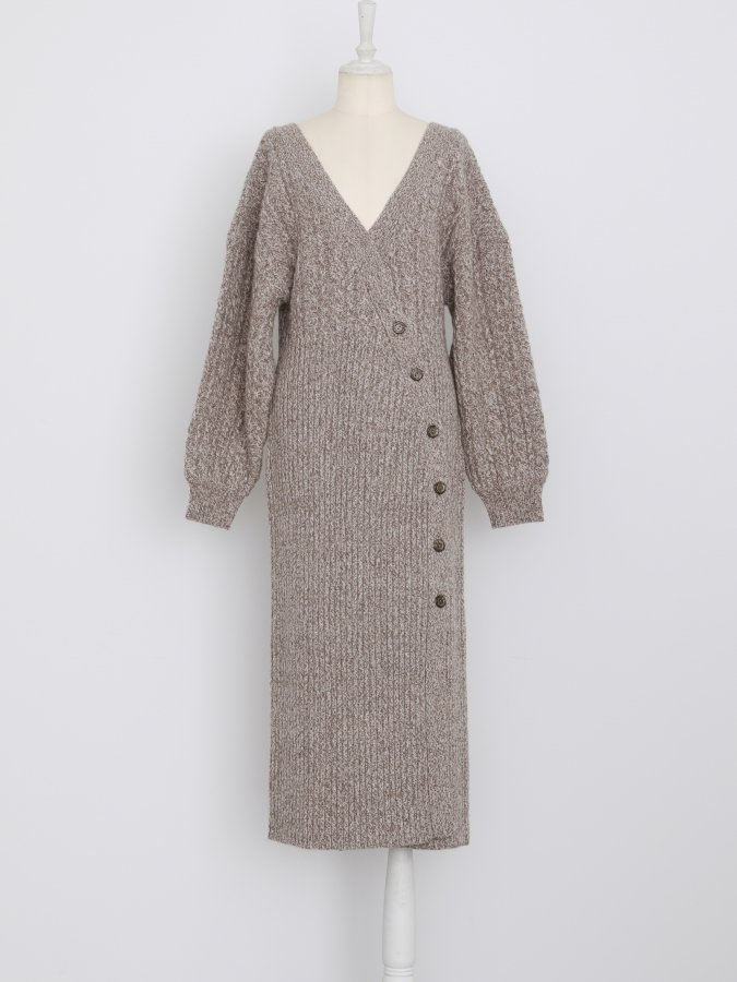 Melange Rap Knit Dress