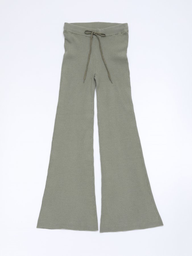 Rib  Flare Pants
