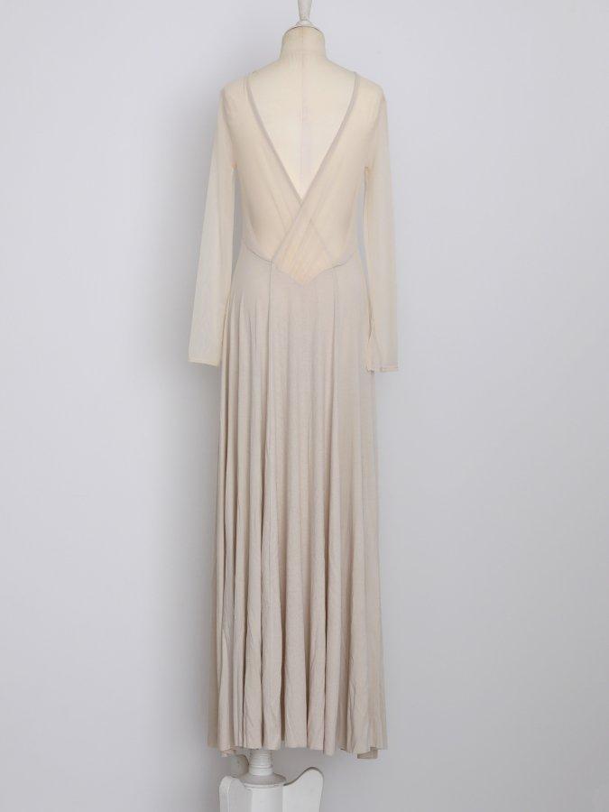 Shear Jersey Dress