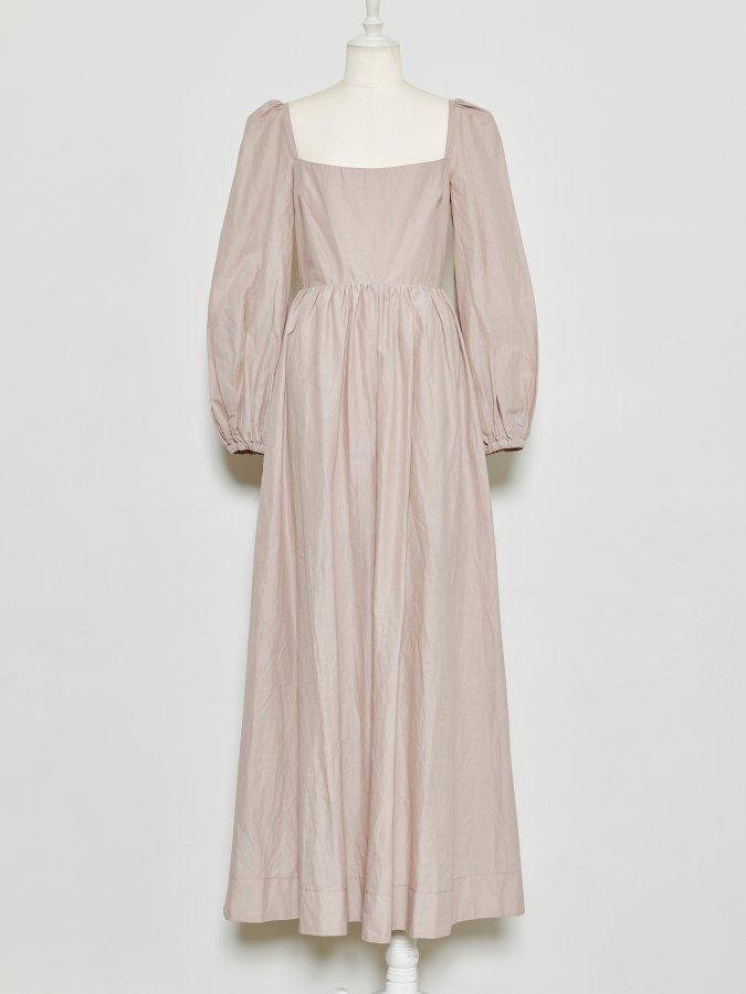 【Pre order】Cotton Loan Balloon Sleeve Dress