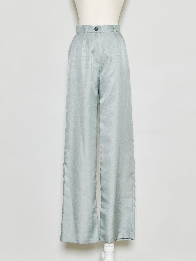Chambray Wide Pants
