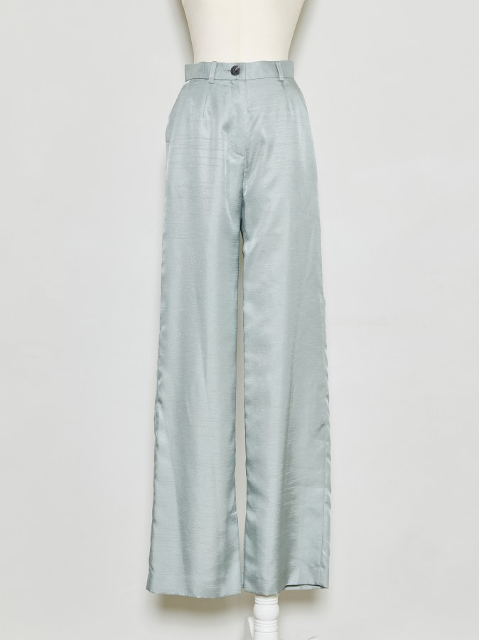 Chambray Wide Pants