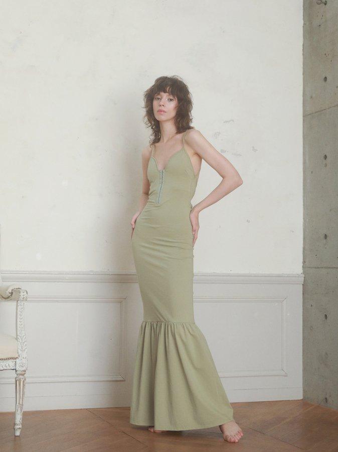 Lace-up Jersey Dress