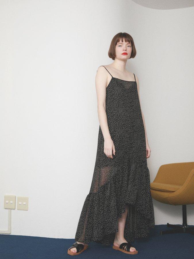 Chiffon Dot Cami Dress