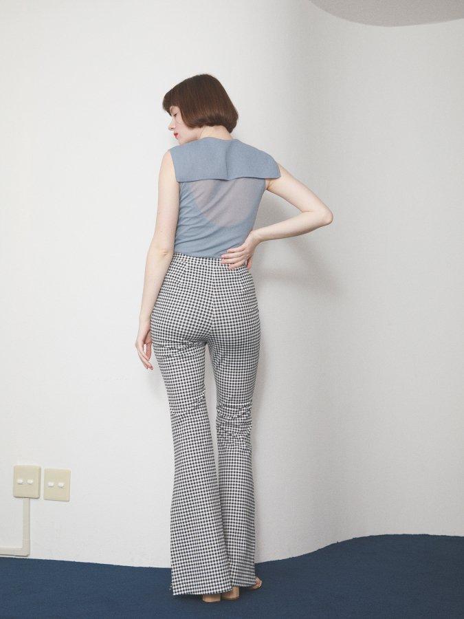 Gingham Side Slit Pants