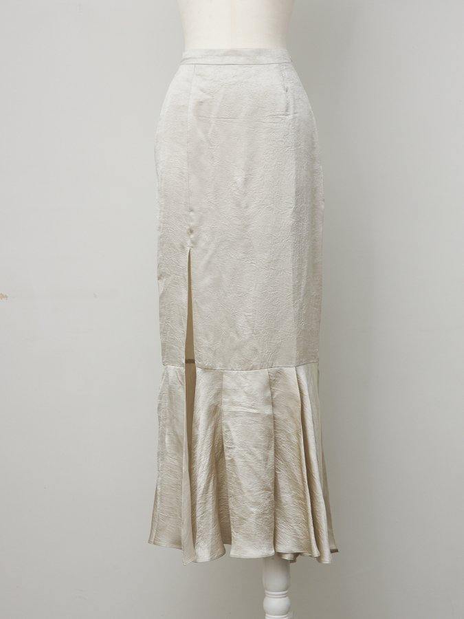 【Pre order】Vintage Satin Long Skirt