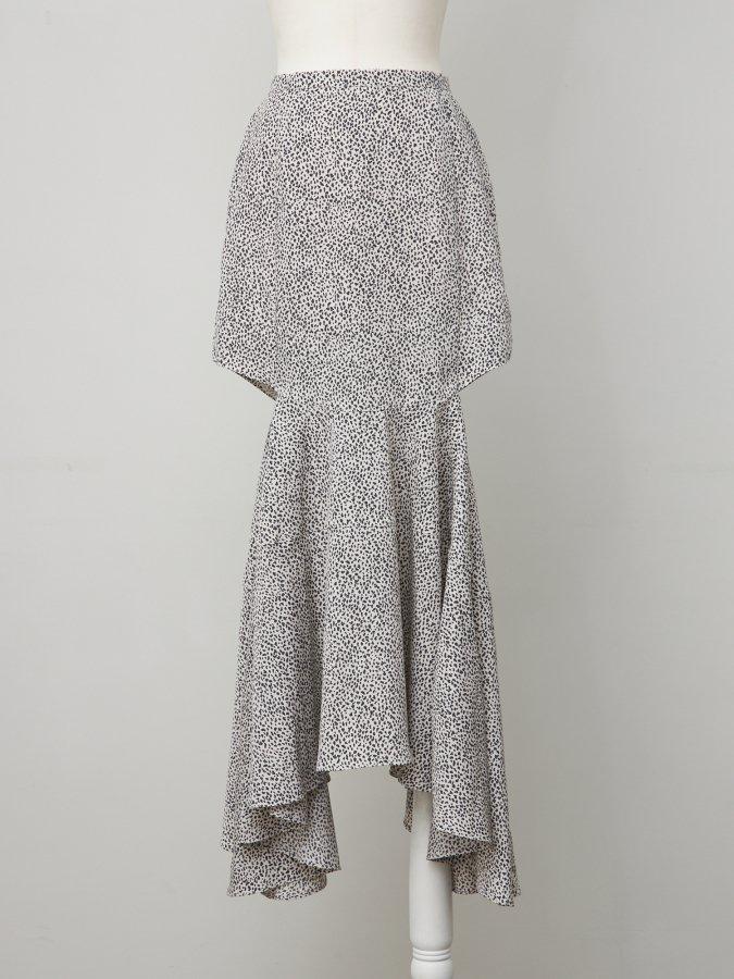 【Pre order】Leopard Side Open Skirt