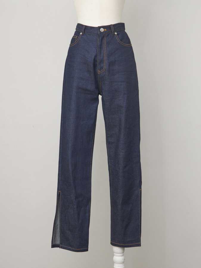 【Pre order】High Waist Denim Pants