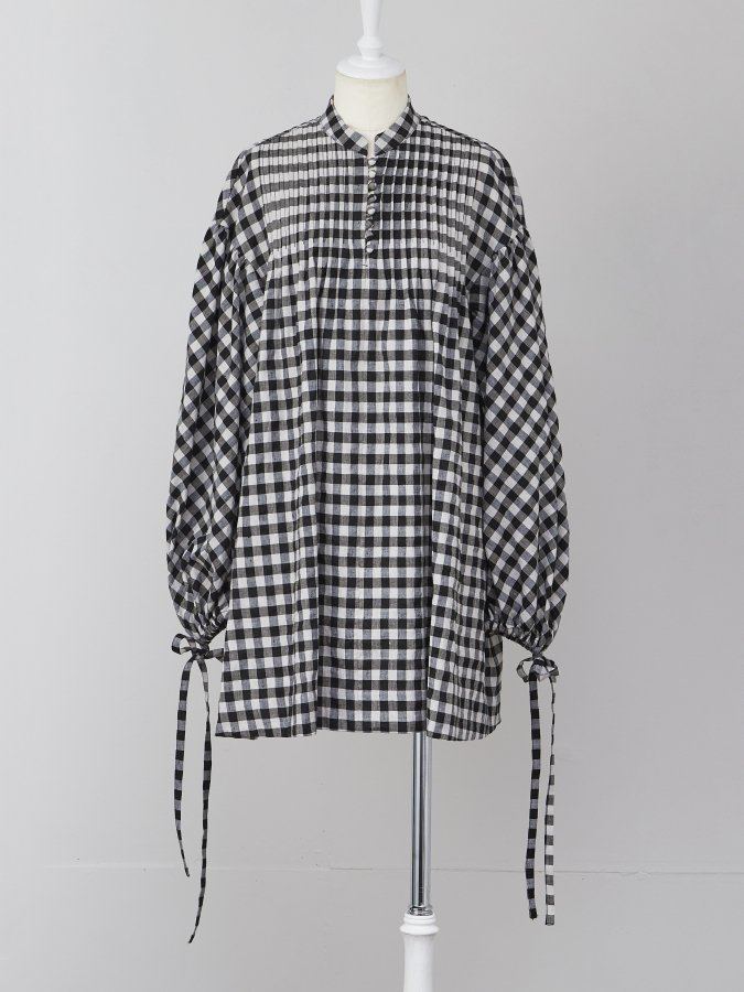 【Pre order】Pintuck Gingham Tunic