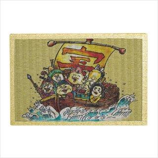 畳の絵葉書 七福神 宝船車 1枚