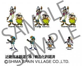 RCA-IN36 近鉄30000系ビスタEX用志摩スペイン村キャラクターインレタ【1】(旧デザイン)