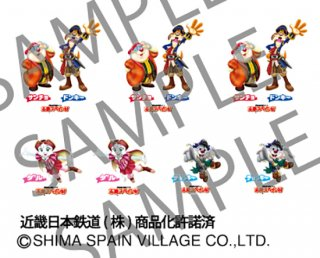 RCA-IN37 近鉄30000系ビスタEX用志摩スペイン村キャラクターインレタ【2】(新デザイン)