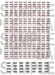 RCA-IN42 相鉄9000系車番インレタ【2】(鉄コレ・旧塗装用)