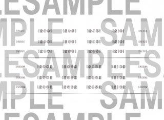 【特別先行販売品】RCA-IN101 南海12000系サザンプレミアム 車番インレタ(鉄コレ用)