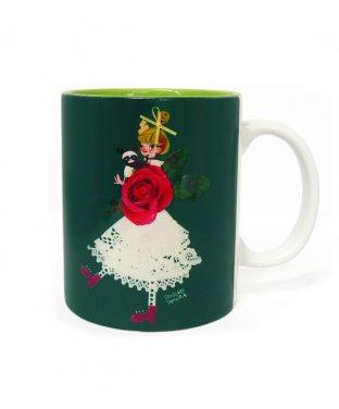 陶器マグカップ: バラ