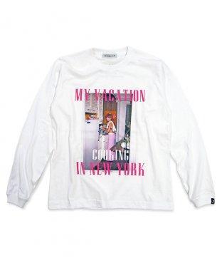 ニューヨークロングTシャツ:ホワイト