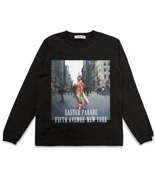 ニューヨークロングTシャツ:ブラック